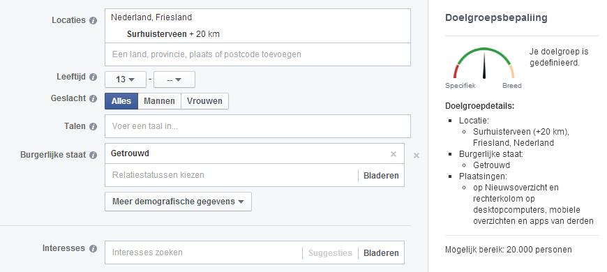 doelgroepbepaling Facebook advertenties